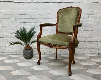 French Louis XVI Style Wooden Chair #609