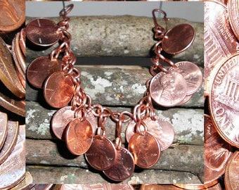 Double layered penny bracelet