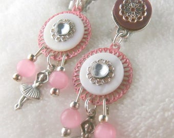 Ballerina pink Clip earrings