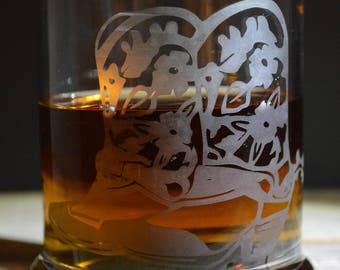 This Hand Made Etched Whisky Glass: Cowboy Boots It's a Southern Thing!!