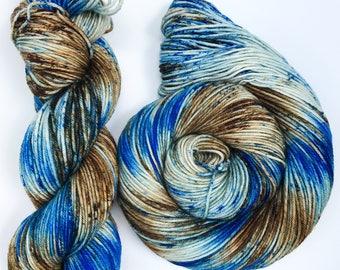 Wooden Sky- DK weight, Superwash Merino, 250 yards, Hand dyed Yarn