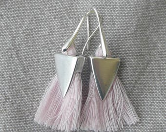 "Stylized ""Tassel Rose"" earrings"