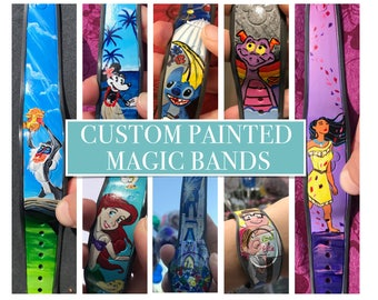 Custom Hand-Painted Disney Magic Band (Made to Order)