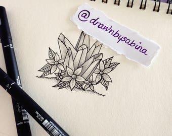 Crystal Tattoo Design