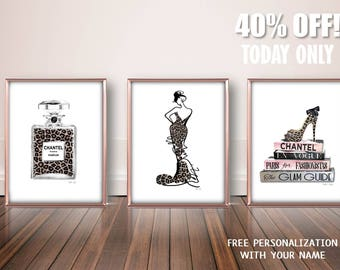 Trendy Fashion Wall Art, Bathroom Wall Art Set, Fashion Print Set, Fashion  Art