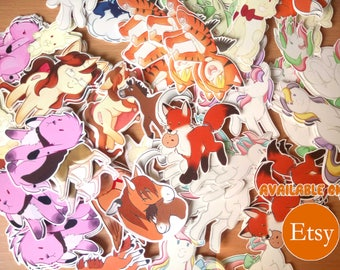 6x Small Stickers