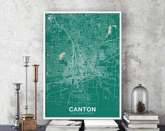 Map of canton Etsy