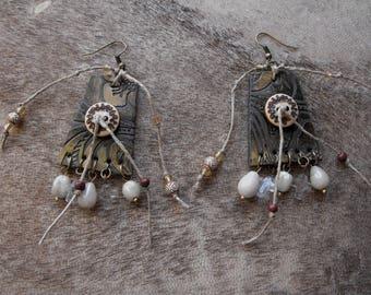 Earrings tribal earrings