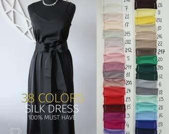 Silk Dress, Long Dress, Dress Silk Linen, Silk Chemise, Bridesmaid Dress, Wedding Dress, Sleeveless Dress, Silk Slip Dress, Bridal Nightgown