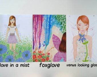 4 x 6 British Flower Fairy Prints Set 2 (Individual Prints or Discounted Bundle)