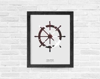 Halifax Ships Wheel Print