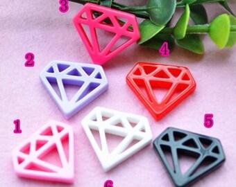 diamond resin cabochon