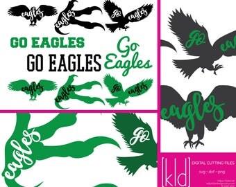 9 Eagle SVG - Go Eagles - Eagle Football - High School or Little League Team - Eagles svg - Eagle Baseball