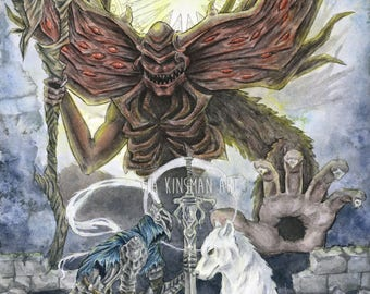 Final Light Limited Edition Hand Embellished Dark Souls Fan Art  Fine Art Print