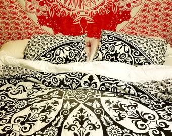 Mandala bedding, Hippie bedding, Mandala tapestry, Tapestry + pillowcases, Mandala bed sheets, Boho bedding, Hippie tapestry, Boho decor