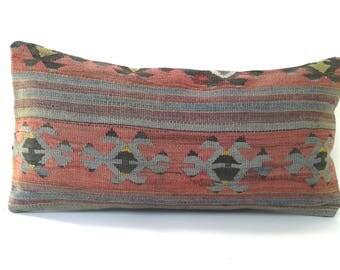Vintage kilim pillow  30x60 cm / 12x24 inch