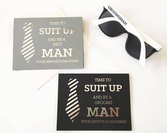 Be My Groomsmen Cards (set of 4)