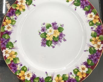 Paragan 8 inch Spring Melody Plate Fine Bone China made in England