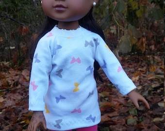 """14.5"""" doll clothes - Butterfly tunic hat and leggings"""