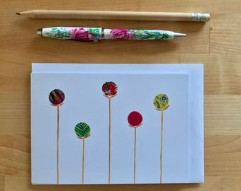 Flowers Mixed Media Greeting Card. A6 Digitally printed. Perfect for a special message.