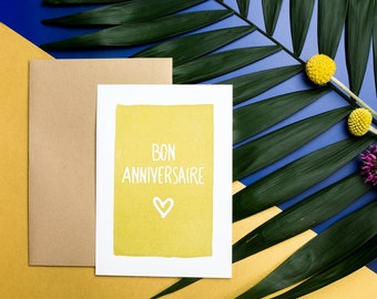 Birthday card printing 10, 5 X 14, 7 CM - good birthday