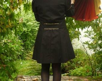 3/4 in black cotton jacket