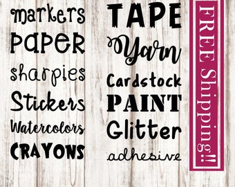 Custom Labels, FREE Shipping, Craftroom Labels, House Labels, Container Labels, Pantry Labels, Labels, Name Decals, Kitchen Labels, Custom