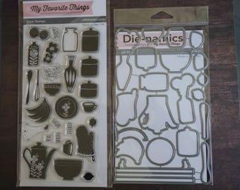 DESTASH: MFT Kitschy Kitchen Stamp and Die Set