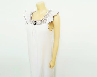Vintage Nightdress, 1970s, Bohemian, Vintage Dress, Festival Clothing, Nightwear, Night Gown, Vintage Clothing, Hippie, Hippy, Womenswear