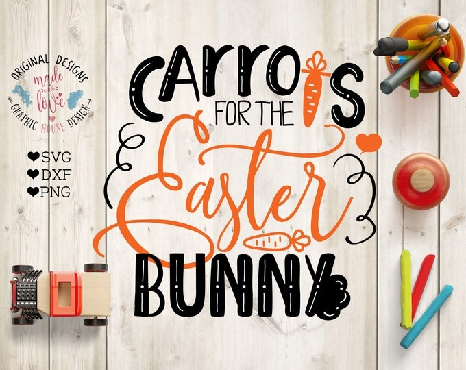 Featured listing image: Carrots for easter bunny svg, easter svg, easter bunny cutting file, easter bunny carrots, silhouette cameo, cricut svg files, commercial