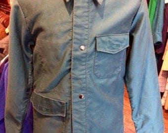 Vintage Green Cotton Work Jacket
