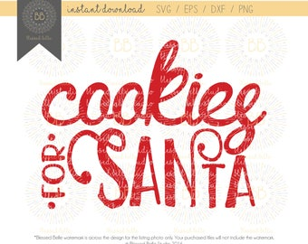 Cookies for Santa SVG, Christmas svg, santa cookie plate, svg, eps, dxf, png file, Silhouette, Cricut