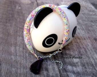 Very nice bracelet mesh and beads.