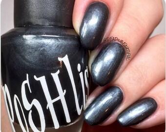 "Unique ""Stately"" Pearl Black Nail Polish Full Size 15ml Bottle"