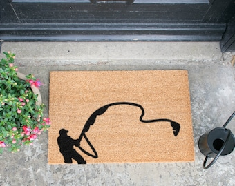 Fishing doormat - 60x40cm - Gift for fishermen