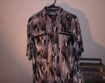 Vintage Harley-Davidson 100% Rayon button up shirt Size Medium