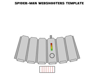 Spider-man Cosplay Webshooters Template Ben Reilly Style