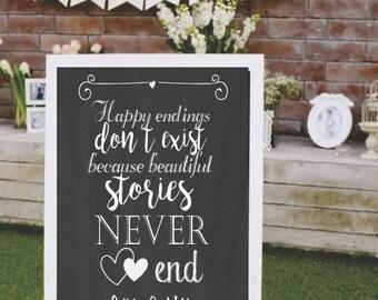 Wedding sign board printable, Digital, Customizable in Spanish or English, Wedding.
