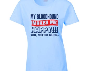Ladies Light Blue Bloodhound Tee Shirt