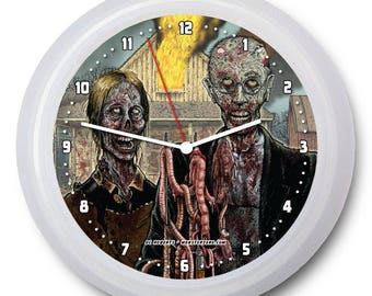 "Original ""America's Got Zombies"" 9"" Wall Clock w/FREE battery!"