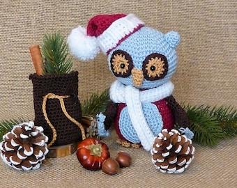 PDF: Emerson, the Christmas Owl - Amigurumi Crochet Pattern