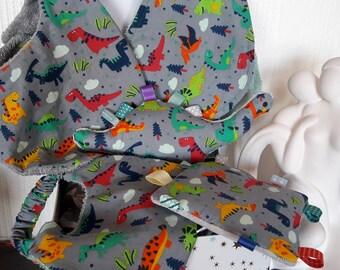 Baby dinosaur motif gift box
