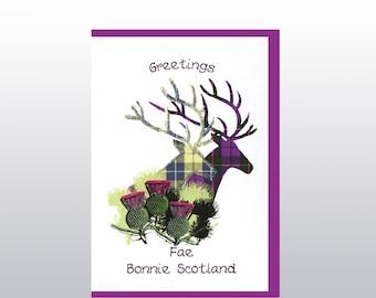 Greetings 'Fae Bonnie Scotland' Stag Card WWGR27