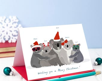 Set of 7 Personalised Christmas Koala