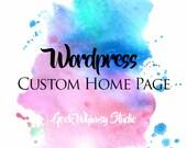Wordpress Custom Home Page (Private Listing)