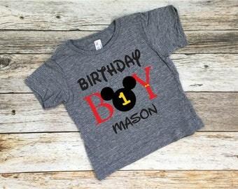 Birthday Boy. Mickey Mouse. Birthday Shirt. Disney Birthday Shirt. Mickey. Disneyland.