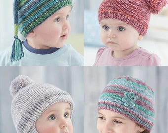 Sirdar Baby & Childrens Hats in DK , Knitting  Pattern , 4806 , baby hata and helmet knitting pattern,  baby pattern, knitting pattern