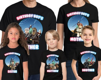 Star Wars Custom Name & Age  Personalized Star Wars Birthday Shirt Star Wars Family Birthday Shirts