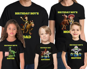 Toy Story Shirt Personalized Name & Age  Custom Toy Story Birthday Shirt Birthday Personalized Birthday Family shirts