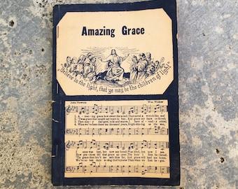 Vintage Hymnal, Amazing Grace, 1949 Paperback Hymn Book